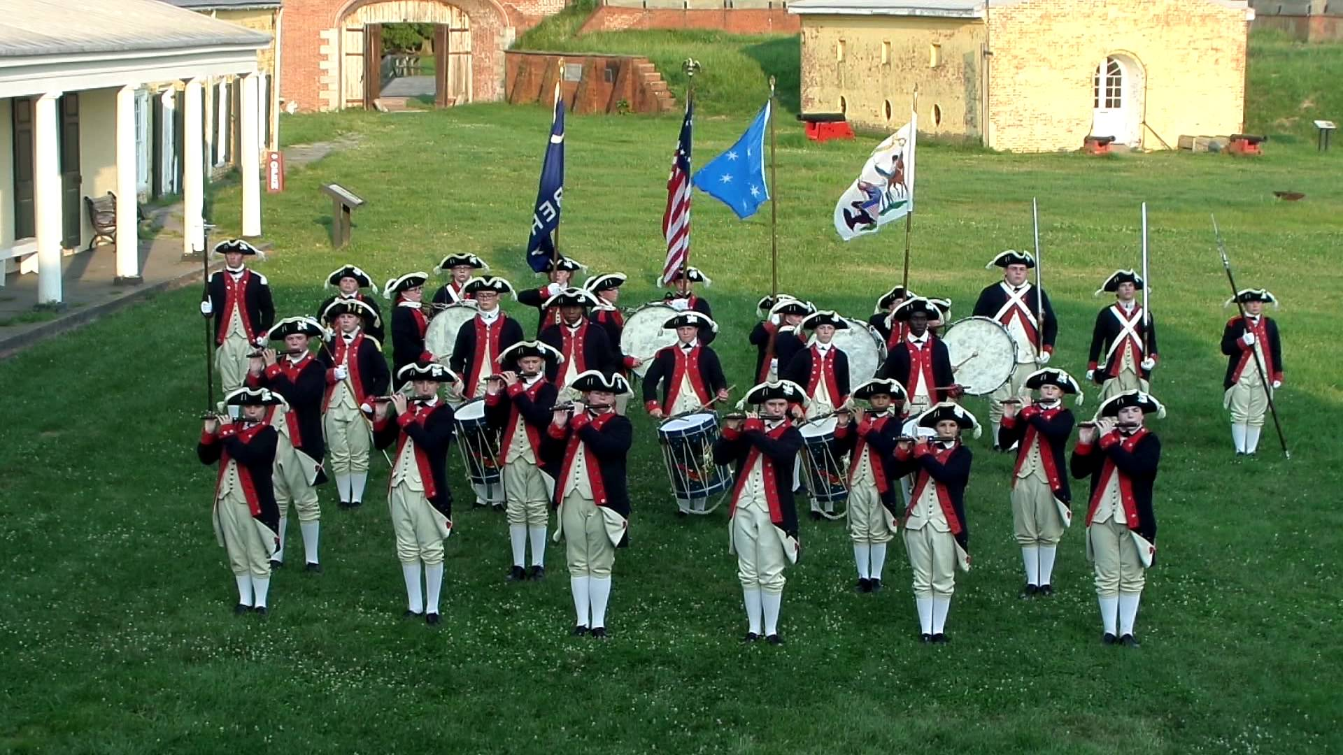 Plymouth Fife and Drum Corps Performance
